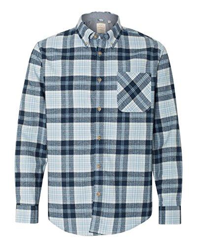 (Weatherproof - Vintage Brushed Flannel Long Sleeve Shirt - 164761 - XL - Powder Blue Plaid)