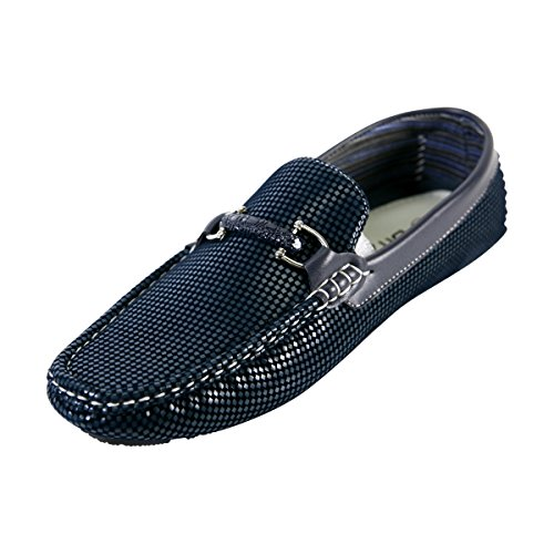 Brixton - Men's Moc Buckle Driving/Loafer - Navy - Navy