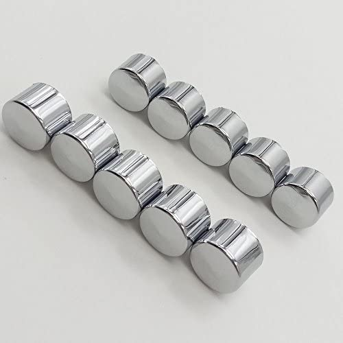 "10pcs Chrome 5//16/"" Allen Socket Bolt Topper Caps Cover Nut Fits Harley Misc"