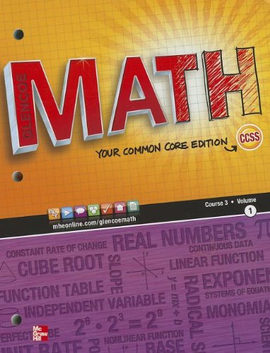 Math, Course 3, Vol. 1 (Common Core Edition) (MATH APPLIC & CONN CRSE)