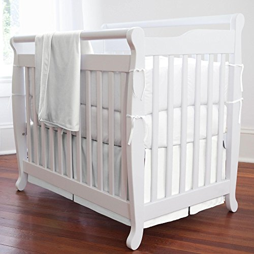 Portable Crib Skirt Box - Carousel Designs Solid White Mini Crib Skirt Box Pleat
