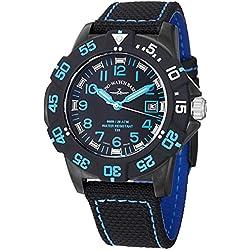 Zeno Men's 6709-515Q-A14 Divers Analog Display Quartz Black Watch