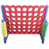 Serenilite Giant Connect 4 in a Row - Fun for Kids, Teens, & Adults - Great for Outdoors, Classrooms, & Home