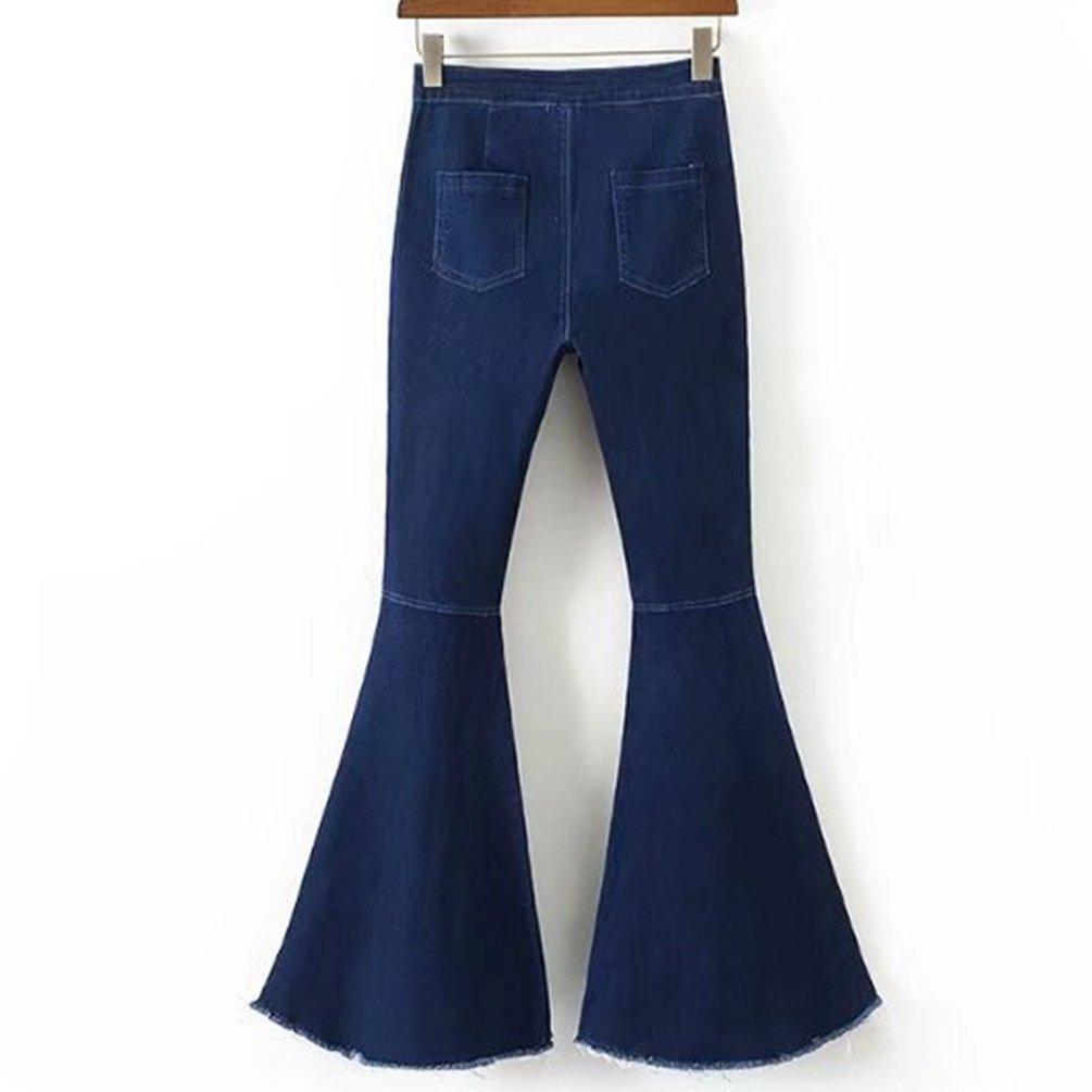 WanYang Pantalones Moda Vaqueros Campana para Mujeres ...