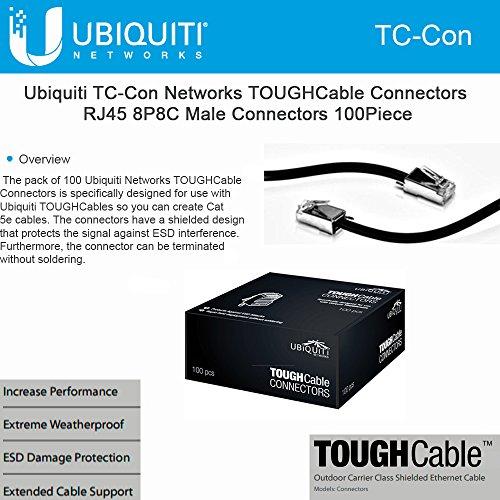 Ubiquiti TOUGHCable RJ45 8P8C Male Connectors, 100 Piece by Ubiquiti Networks