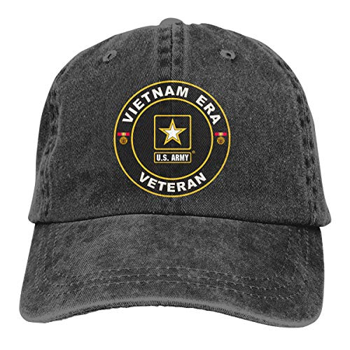 (U.S. Army Vietnam Era Veteran Unisex Trucker Hats Dad Baseball Hats Driver Cap Black)