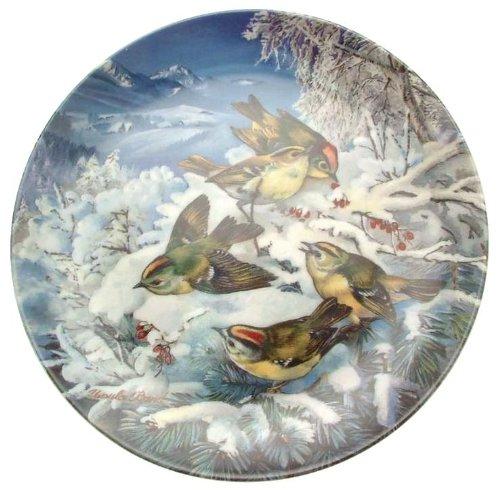 Hutschenreuther Wintergoldhahnchen am Waldrand Vogel im Winter plate CP1989