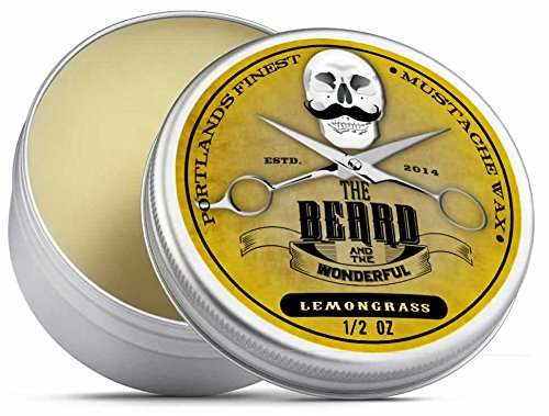 The Beard and The Wonderful - Cera para el bigote. Solución de calidad para dar forma y estilo a la barba y el bigote, 15 ml tbatw-mwax15lem