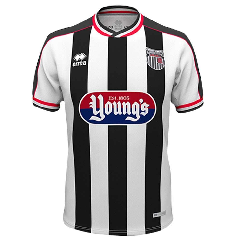 Errea 2018-2019 Grimsby Town Home Football Soccer T-Shirt Trikot