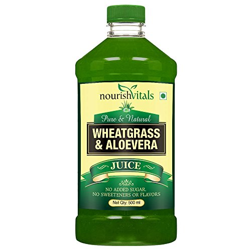 NourishVitals WheatGrass With AloeVera Juice 500ml – No Added Sugar