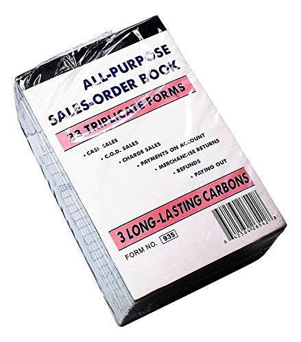 Triplicate Receipt Book (Qshop Sales Order Book 33 Triplicate Forms Carbonless 3 Copy's - Wholesale Lot of 10)