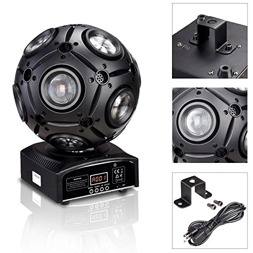 Koval Inc. Moving Beam Light DJ Disco Ball Light DMX RGBW Color Changing (Disco Ball, Multicolor) by KOVAL INC.