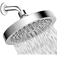 High Pressure 20CM Shower Head,Big Size Chrome 360° Rotation Anti Clogging Silicone Nozzles Shower Head Replacement for…