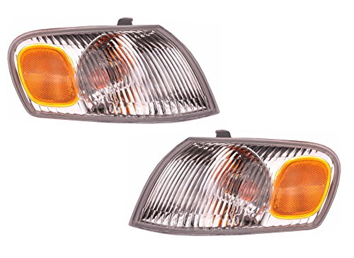 1998-1999-2000 Toyota Corolla Park Corner Light Turn Signal Marker Lamp Pair Set Right Passenger AND Left Driver Side (98 99 (Marker Lamp Set)