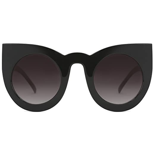52b2ebbfb Slocyclub Cute Velvet Cateye Sunglasses UV400 Women Sun Shade Black Frame  Grey Lens