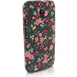 iGadgitz '3D Designer Collection' Pink Rose Floral Pattern PC Hard Back Case Cover for Motorola Moto G 2nd Generation 2014 XT1068 (G2) + Screen Protector