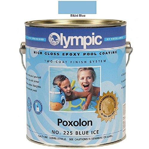 - Kelley Technical Coating 2228-GL Olympic Poxolon 2 Epoxy For Plaster Concrete And Metal Gallon, Bikini Blue