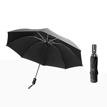 qianqian QIAN Paraguas Plegable al Revés Paraguas de Viaje ...