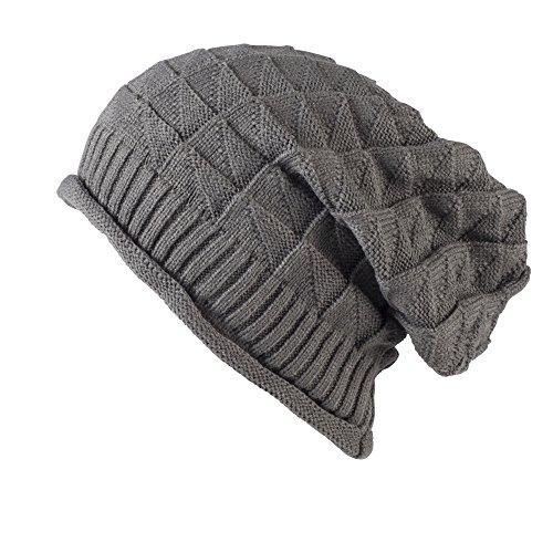 Colección de gorros de montaña combados, flexibles de punto con patrón de croché Style 05