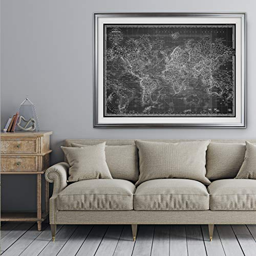 Wexford home vintage wold map v grey