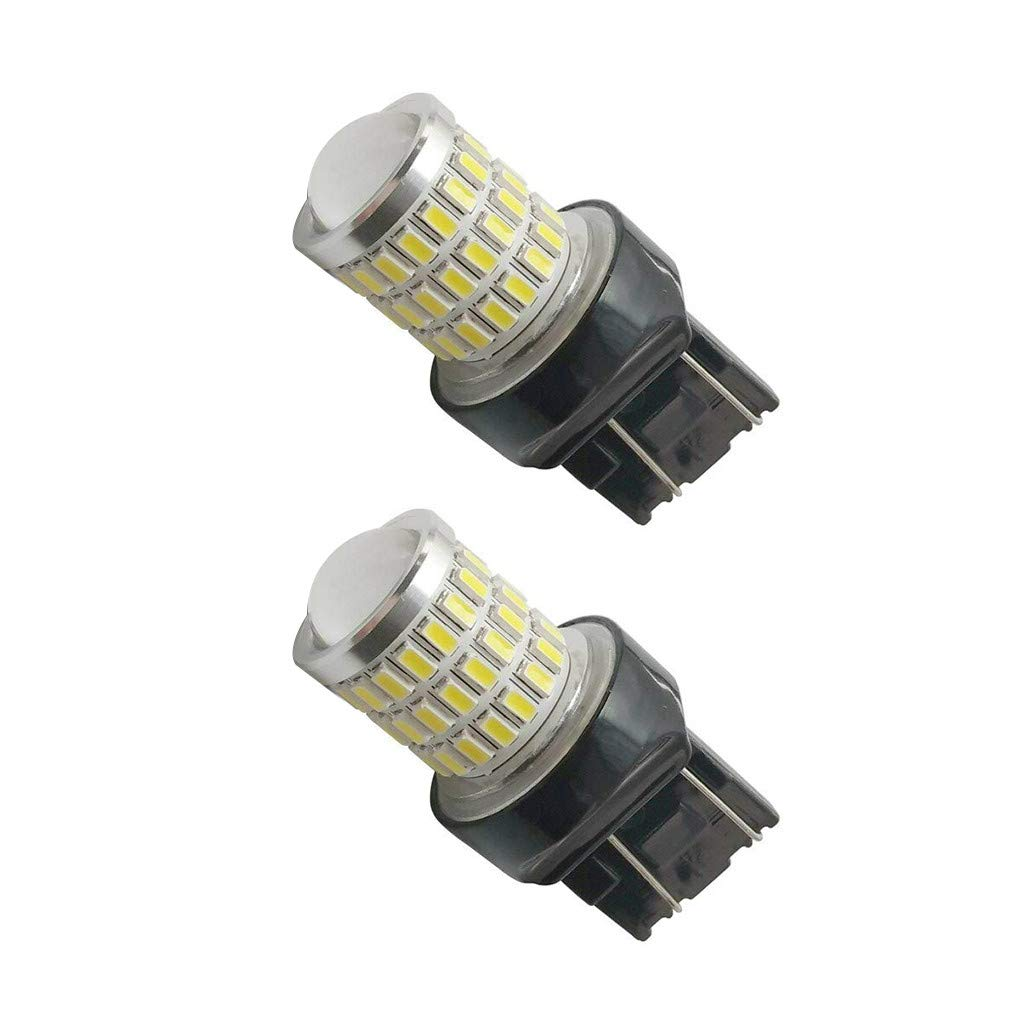 Bobury 2PCS 7743 3030/3014 54SMD White Light High Birghtness Car Parking Lights Running Backup Reverse LED Bulb by Bobury (Image #1)