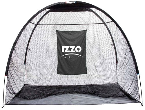 Hitting Golf Indoor Net - Izzo The Giant Jr. Hitting Net (8 foot x 10 foot Hitting Area)