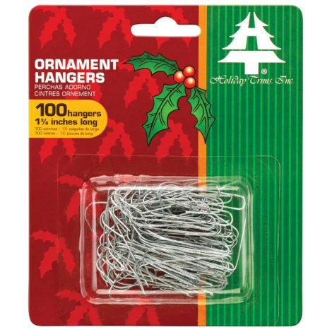 HolidayTrims 100 Pk. Silver Ornament Hooks by HolidayTrims