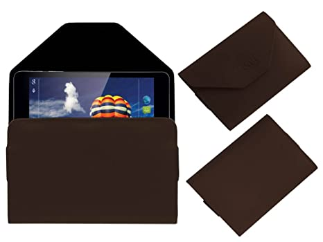 Acm Pouch Case Compatible with Iball 7803 Q900 Flip Flap Cover Holder Brown Tablet Accessories