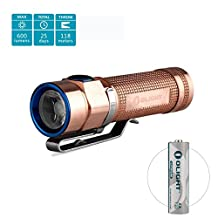 Olight® S1A 550 Lumens Cree XM-L2 LED AA Flashlight PMMA TIR Lens Compact Handy Mini EDC Torch LED Handheld Flashlight Powered by 1 * 1.5V Lithium Iron AA Battery Outdoor Gears