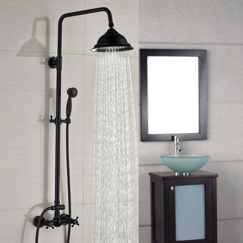 LightInTheBox Rain Shower Faucet Wall Mount RainDrop Brass oil rubbed bronze shower valve system, Handshower Included Single Hole Single Handle