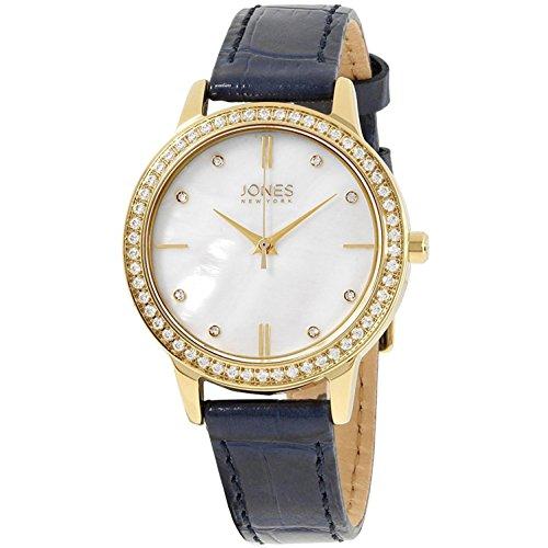 Jones New York MOP Dial Leather Strap Ladies Watch 11536G528-007