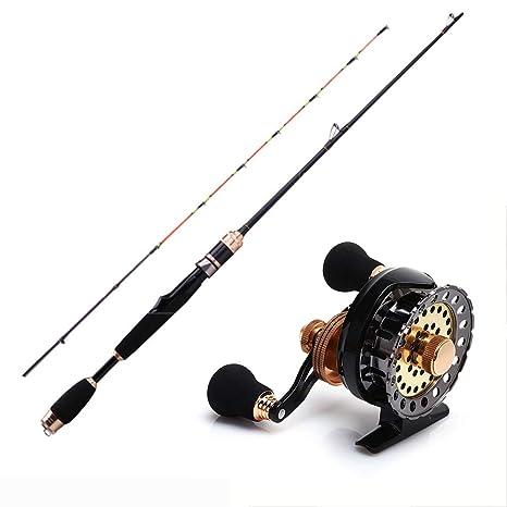 GXYWPF Combo de Pesca Caña de Pesca+Carrete de Pesca Spinning ...