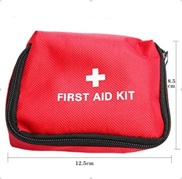 Amazon.com: Kit de primeros auxilios de viaje, color rojo ...