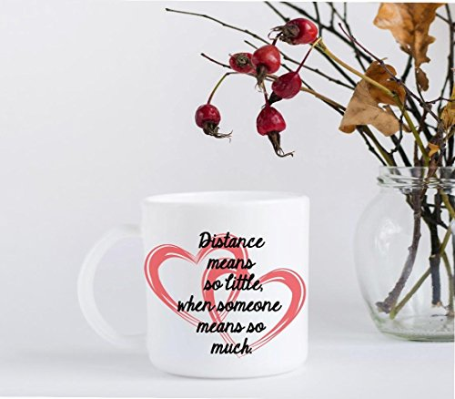 Distance Mean so Little, When Someone Means so Much - Coffee (Right Hand Facing Computer)