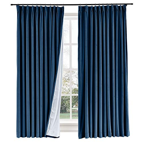 (Curtains Your Way Blackout Room Darkening and Thermal Insulating Window Curtains/Panels/Drapes Sapphire Blue Color 50x84 Inch 1 Panel)