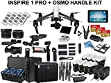 DJI Inspire 1 RAW with eDig Custom Flight Bundle. Includes 8x TB48 Batteries, 2 Charging Hubs, iPad Air, Osmo Handle Kit with X5 Adapter, Go Professional Case, 3x 64GB Cards and more…