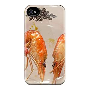 Tpu Case For Iphone 4/4s With Twin Shrimps