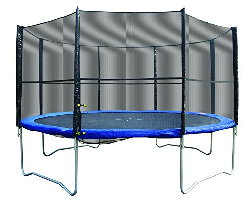Super Jumper Trampoline Combo (Trampoline + Safety Net), Blue, 12-Feet