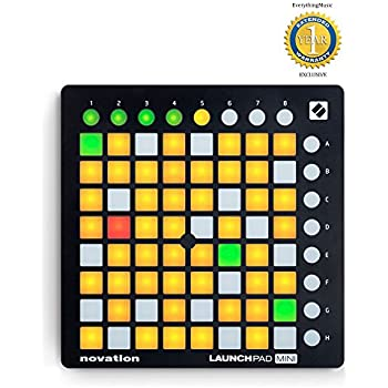 Novation Launchpad Mini MK2 Ableton Live Grid Controller with 1 Year Free Extended Warranty