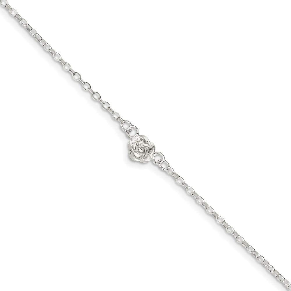 Roy Rose Jewelry Sterling Silver Polished Anklet 9 length