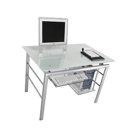 Tomasucci Terra Escritorio de Metal y Cristal Mesa Computer Desk ...