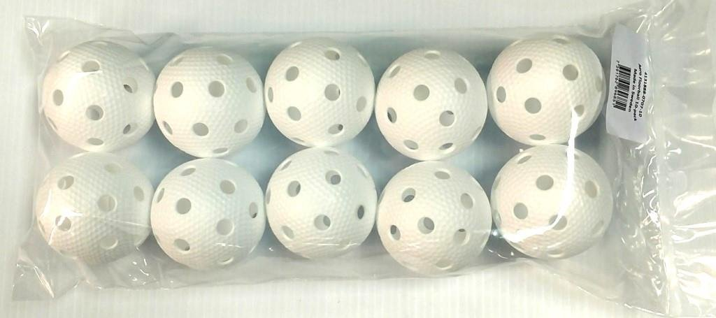 Salming Aero Floorball (10-Pack), White