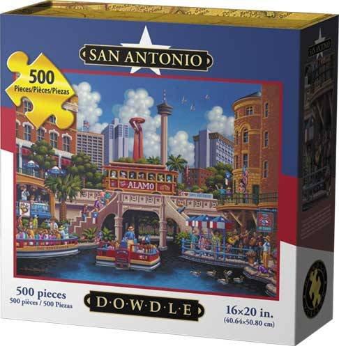 Dowdle Folk Art Puzzles - San Diego Puzzle, 500 Pieces