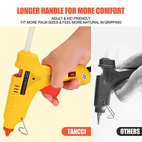 Hot Glue Gun Full Size 100W Heavy Duty Craft Glue Gun with 10pcs Premium Glue Sticks (0.43\'\' x 8\