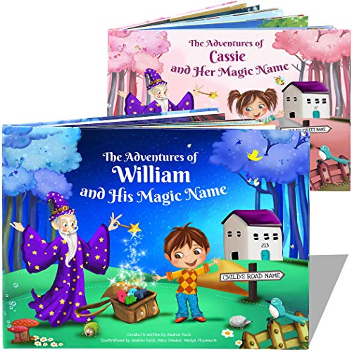 Personalized Book for Boys, Girls | My Magic Name - Great Keepsake Gift for Children - Hardback -