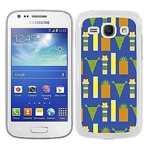 Funda carcasa para Samsung Galaxy Ace 3 diseño frutas cuadradas borde blanco