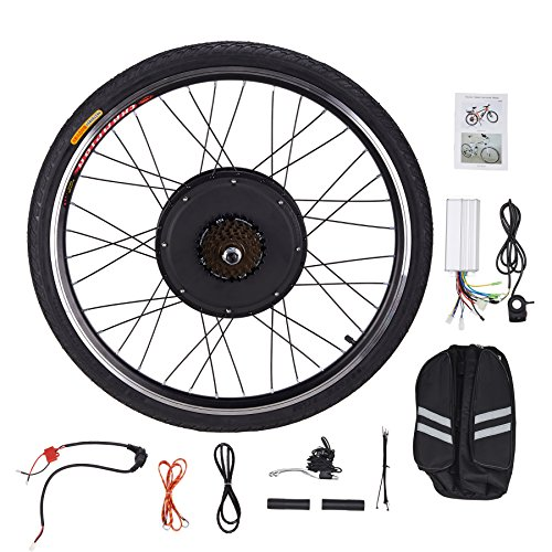 "Pinty RR1010 26"" Rear Wheel 48V 1000W Ebike Hub Motor Conversion Kit with Dual Mode Controller & Disc Brake for Electric Bicycle Bike, Up to 28-30 MPH"