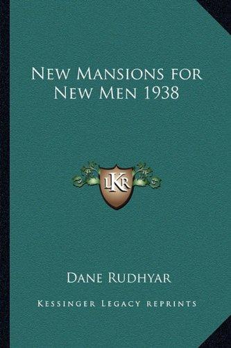 New Mansions for New Men 1938 pdf epub