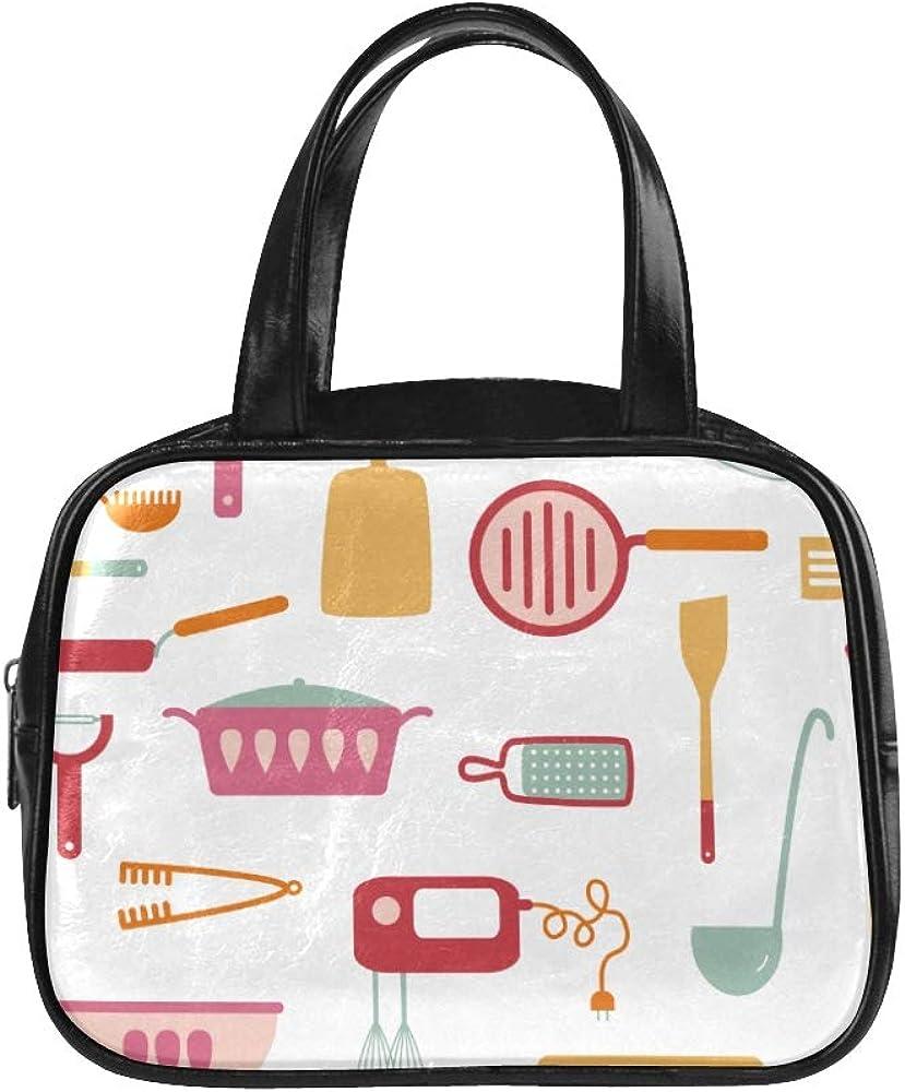Lady Handbag Kitchen Cooking Equipment Fashion Bag Women Ladies Fashion Bags Pu Leather Top Handle Satchel Tote Bag With Zipper
