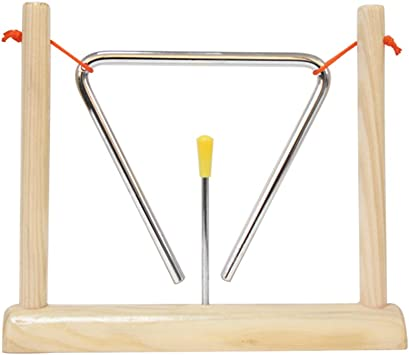 4 Musical Triangle /& Beater Percussion Metal Instrument Music School Toy New
